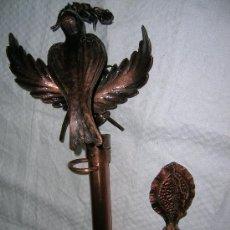 Antigüedades: PAREJA DE MÁSTILES PARA ESTANDARTE PROCESIONAL. Lote 26644070
