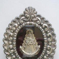 Antigüedades: RELICARIO VIRGEN DEL ROCIO, MED. 17 X 13 X 3 CM. Lote 26785401