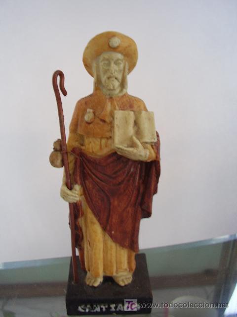 FIGURA DE SANTIAGO APÓSTOL DE PASTA (Antigüedades - Varios)