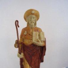Antigüedades: FIGURA DE SANTIAGO APÓSTOL DE PASTA. Lote 24090099