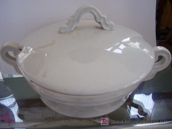 SALSERA PEQUEÑA CHINA OPACA SANTANDER (Antigüedades - Porcelanas y Cerámicas - Otras)