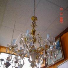 Antigüedades: LÁMPARA DE BRONCE Y MÁRMOL. Lote 27213476