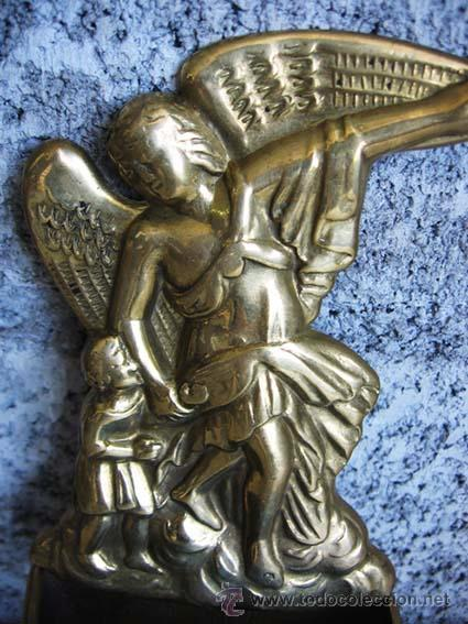 Antigüedades: BENDITERA de bronce - Foto 2 - 18359240