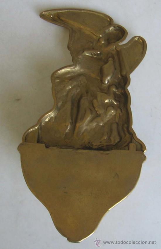 Antigüedades: BENDITERA de bronce - Foto 3 - 18359240
