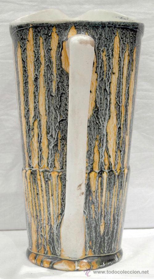 Antigüedades: Jarra cerámica vidriada colores años 50 - Foto 3 - 10716894