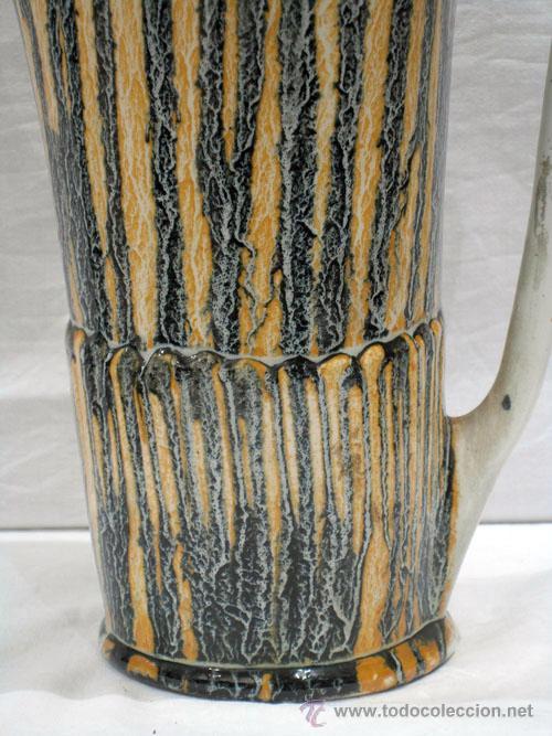 Antigüedades: Jarra cerámica vidriada colores años 50 - Foto 4 - 10716894