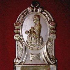 Antigüedades: BENDITERA VIRGEN MONTSERRAT. Lote 15740096