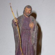 Antigüedades: FIGURA DE BARRO ANTIGUA PARA PESEBRE. Lote 21843937