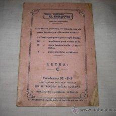Antigüedades: EL DIBUJANTE DIBUJO PLANCHABLE LETRA C. Lote 10894534