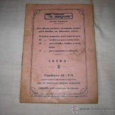 Antigüedades: EL DIBUJANTE DIBUJO PLANCHABLE LETRA E. Lote 10894598