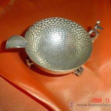 Antigüedades: CENICERO ANTIGUO DE ALPACA. Lote 26511396