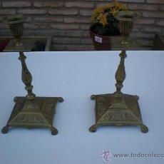 Antigüedades: 2 CANDELABROS DE BRONCES. Lote 10912465