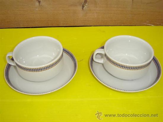 2 TAZONES PORCELANAS COIMBRA (Antigüedades - Porcelanas y Cerámicas - Otras)