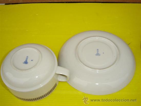 Antigüedades: 2 tazones porcelanas coimbra - Foto 2 - 10922890