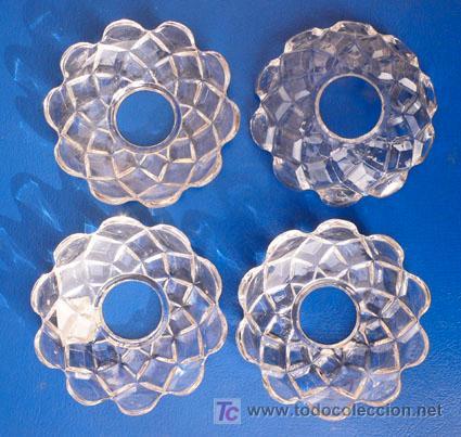 e091111ebe50 4 aros cristal prensados para velas