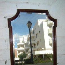 Antigüedades: ESPEJO EN CAOBA CRISTAL VICELADO. Lote 10958667