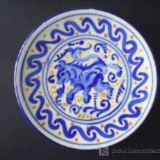 Antigüedades: ANTIGUO PLATO DE CERAMICA ESPECIAL DECORACION PARA COLGAR. Lote 26635631