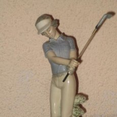 Antigüedades: FIGURA DE GOLFISTA NAO - LLADRÓ - - ALT. 25 CM.. Lote 11116111