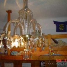 Antigüedades: LAMPARA CRISTAL, 4 BRAZOS. Lote 26646609
