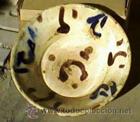 Antigüedades: ANTIGUO PLATO DE BARRO - MEDIDAS DIAMETRO 21,5 CM. ALTO 7 CM. - Foto 4 - 26684935