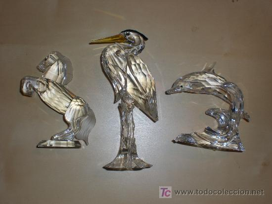 Swarovsky figuras de cristal tallado 3 unidades comprar - Figuras de cristal swarovski ...