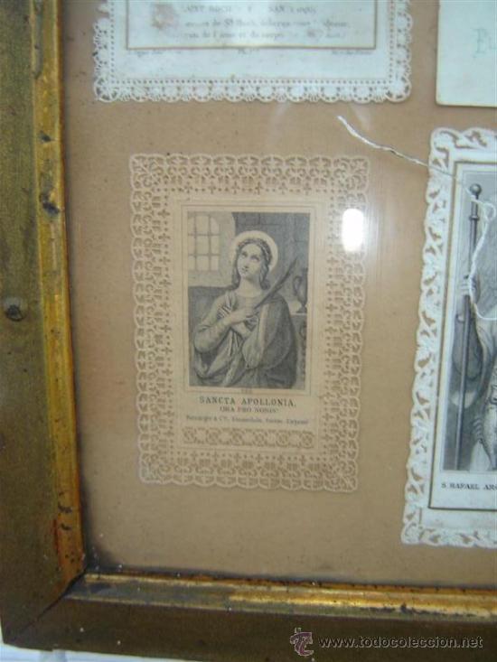 Antigüedades: marco antiguo con postales religiosa - Foto 3 - 11195120