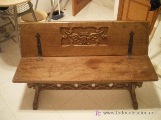 Muebles Antiguos Tallados En Madera : Antiguo banco de madera macizo tallado a mano comprar