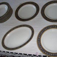 Antigüedades: PLATOS DE PORCELANA. Lote 34144877