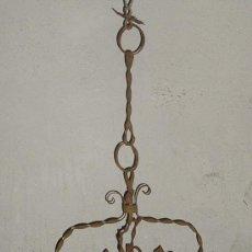 Antigüedades: FAROL ANTIGUO LATON Y CRISTALES ORIGINALES. Lote 27446466