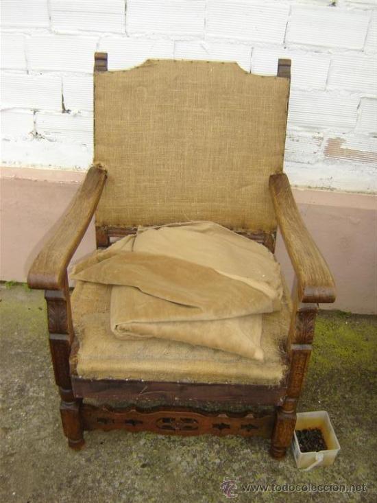 Sillon de roble antiguo para tapizar comprar sillones - Tapizar sillon precio ...