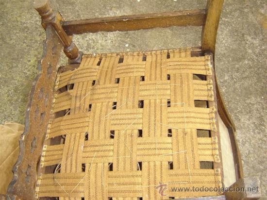 Antigüedades: sillon de roble antiguo para tapizar - Foto 3 - 11400622