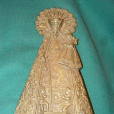 Antigüedades: VIRGEN DE LOS DESAMPARADOS - ANTIGUO RELIEVE EN BRONCE -. Lote 26564463