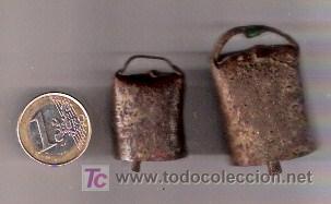 PAREJA DE CENCERROS ANTIGUOS - AUTENTICOS (Antigüedades - Técnicas - Rústicas - Ganadería)