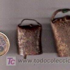 Antigüedades: PAREJA DE CENCERROS ANTIGUOS - AUTENTICOS. Lote 26084421