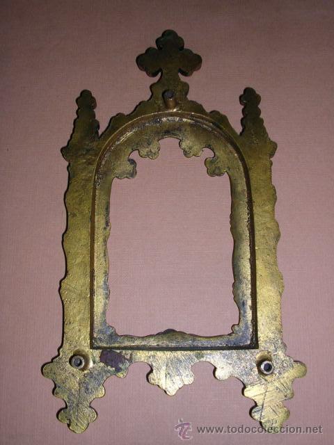 Antigüedades: MARCO DE BRONCE Y ESMALTES(CLAUSONER) ANTIGUO.19X10 CM.. - Foto 4 - 11516570