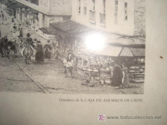 Antigüedades: lamina enmarcada, plaza de la constitucion y ayuntamiento. dibujo de chapuy del siglo xix - Foto 3 - 11579682