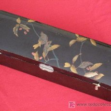Antigüedades: CAJA ORIENTAL ANTIGUA LACADA, PRECIOSA.. Lote 27362840