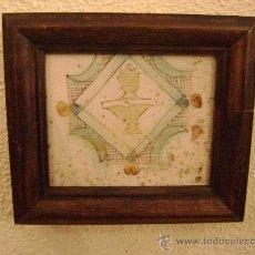Antigüedades: AZULEJO CATALAN SIGLO XVII ENMARCADO . Lote 17958289