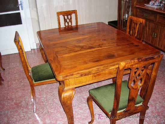comedor en madera de olivo, años veinte. mesa, - Comprar Mesas ...