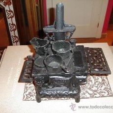 Antigüedades: ESTUFA COCINA DE HIERRO PEQUEÑA REPRODUCCIÓN . Lote 27227839