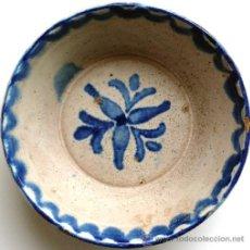 Antigüedades: FAJALAUZA - LEBRILLO O FUENTE AZUL - S. XIX. Lote 27566907