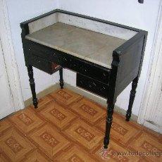 Antigüedades: TOCADOR DE CAOBA CON MARMOL S. XIX. Lote 27375797