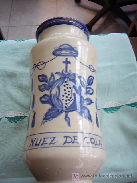 BOTE FARMACIA NUEZ DE COLA (Antigüedades - Cristal y Vidrio - Farmacia )