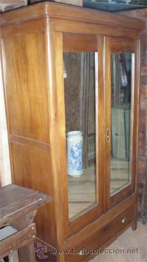 Aparador Corredor Apartamento ~ armario ropero antiguo de madera, con dos puert Comprar Armarios Antiguos en todocoleccion