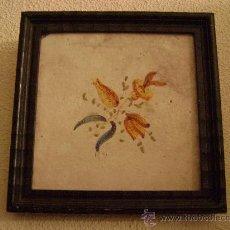 Antigüedades: AZULEJO VALENCIANO SIGLO XVIII-XIX ENMARCADO. Lote 26598426