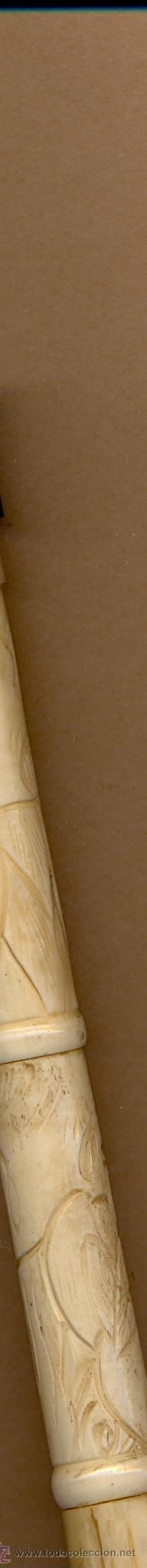 Antigüedades: BASTÓN DE HUESO CON PUÑO DE ASTA 92 CM LARGO , PUÑO 7 CM LARGO ASTA Y HUESO - Foto 7 - 27011517