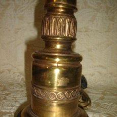Antigüedades: LAMPARA DE BRONCE Y LATON ANTIGUA DE MESA. Lote 11902751