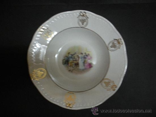 ANTIGUO PLATO DE SAN JUAN DE AZNALFARACHE, 23 CM. DE DIAMETRO (Antigüedades - Porcelanas y Cerámicas - San Juan de Aznalfarache)