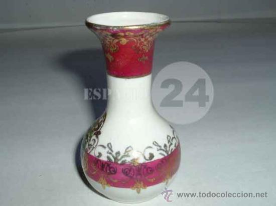 Antigüedades: Florero-violetero-jarrón- Con Escena Galante Para La Vitrina - Foto 2 - 27471628