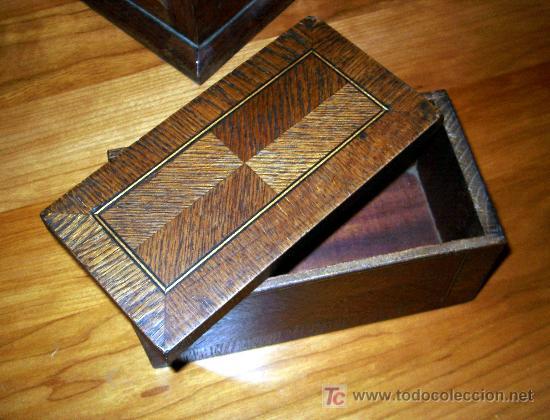 Antigua caja de madera con marqueteria de forma comprar - Madera para marqueteria ...